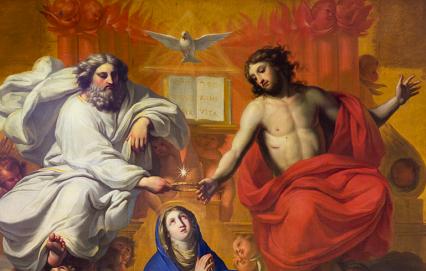couronnement de la Vierge fourvière