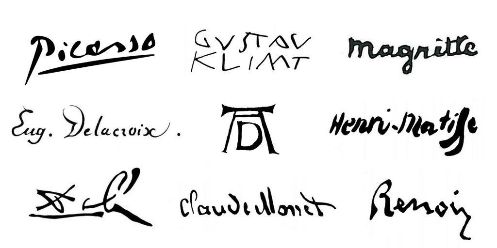 signatures peintres