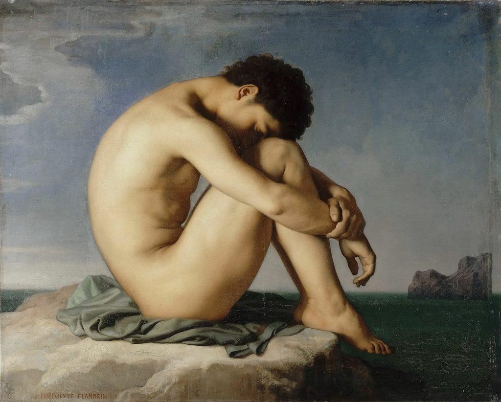 Hippolyte Flandrin jeune homme nu assis